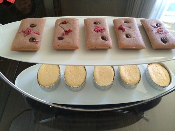 小豆のフィナンシェ・スフレチーズ