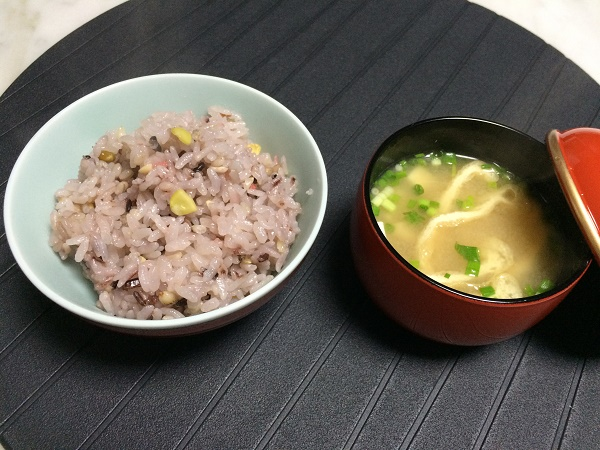 納豆汁・雑穀米ご飯