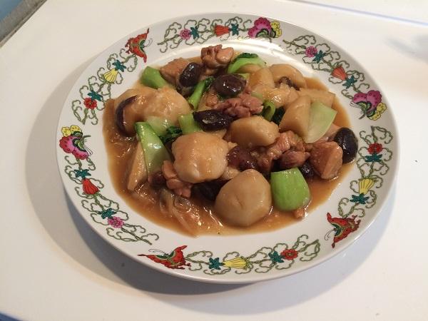 里芋と鶏肉の中華風煮物